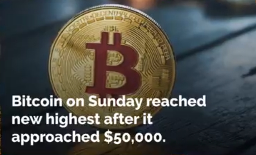 Bitcoin Hits New Record in 2021 Because it Approaches $50,000